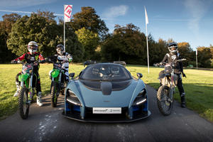 Watch The McLaren Senna Take On Three Motocross Bikes At Goodwood