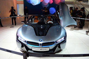 The Birth of BMW eDrive in Beijing - i8 Concept Spyder Live Shots