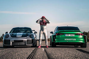 1,200-HP Audi Drives In REVERSE For World Record