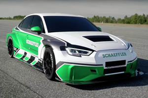 1,200-HP Electric Audi Sets A New World Record Driving Backwards