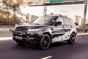 Self-Driving Range Rover Sport Navigates One Of UK's Most Complex Public Roads