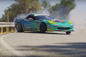 Drifting A 1,000-HP Corvette On Mountain Roads Takes Some Serious Skill