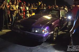 Ford Mustang Splits In Half In Illegal Street Race