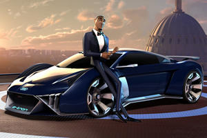 Audi Creates One-Off Electric Supercar For Will Smith