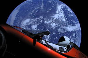 Tesla Roadster Sent Into Space Is Now Beyond Mars