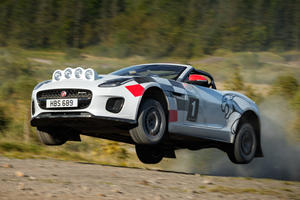 Jaguar Built A Pair Of Wonderfully Crazy F-Type Roadster Rally Cars