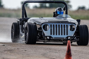 Corvette-Jeep Track Car Is Your Ultimate Boy's Toy