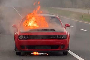 Why Did This Dodge Challenger SRT Demon Burn To A Crisp?
