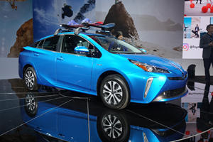 Toyota Prius AWD-e Puts The Hybrid Traction Down In LA