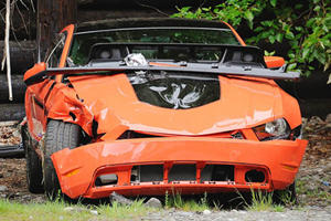 Mustang Boss 302 Driven by Lottery Winner Crashed