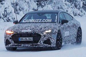 Check Out The New Audi RS7 Sportback Charging Through The Snow