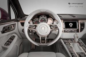 Porsche Macan Lavished With Gold Interior