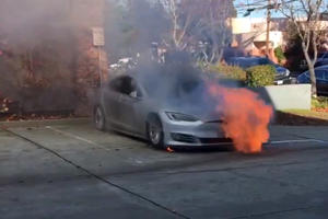 Tesla Model S Mysteriously Catches Fire...Twice