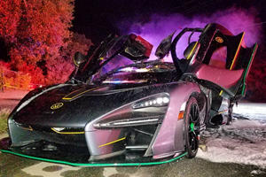 Famous YouTuber Salomondrin's McLaren Senna Goes Up In Flames