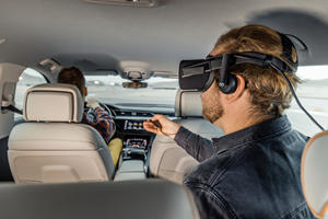 Audi e-tron Transformed Into Rolling Virtual-Reality Game