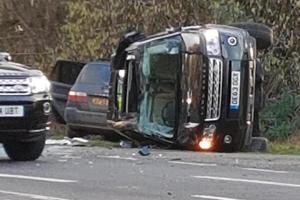 Queen's Husband Prince Philip Crashes Land Rover Into Kia