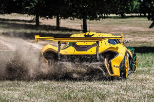 Crazy McLaren P1 GTR Owner Does Donuts In The Grass