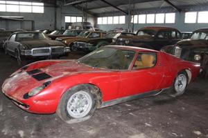 Incredible 81-Car Barn Find Includes This Dusty Lamborghini Miura