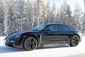 Porsche Taycan Sport Turismo Looks Hot In The Snow