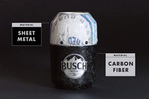 Busch Turned A Stock Car Into Beer Cans