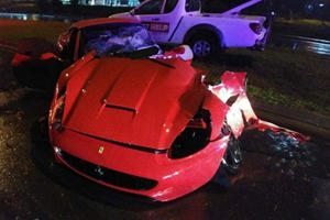 Ferrari California Splits In Half In Horror Crash