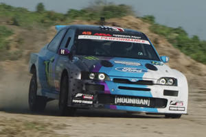 Watch Ken Block's Reborn Ford Escort Rally Car Burn Rubber