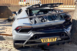 Lamborghini Huracan Performante Crashes At Supercar Meet