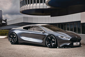 BMW 8 Series Reimagined As Mid-Engined Ferrari Fighter