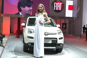 Miss Italy Unveils New Fiat Panda 4x4 in Paris