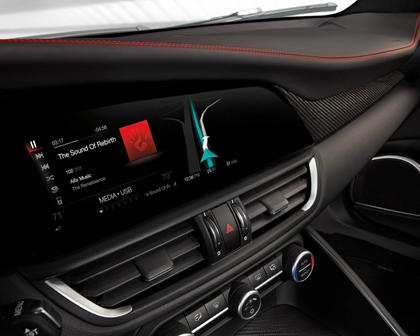 Alfa Romeo Giulia Quadrifoglio Sedan Navigation System