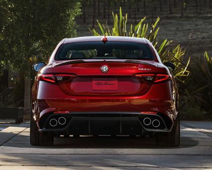 Alfa Romeo Giulia Quadrifoglio Sedan Rear Shown
