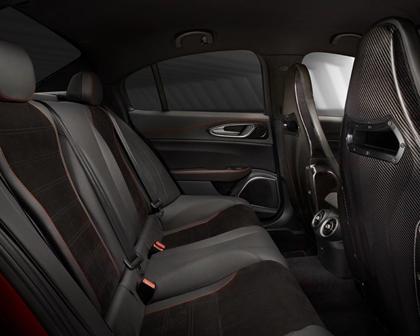 Alfa Romeo Giulia Quadrifoglio Sedan Rear Interior