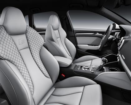 2017 Audi A3 Sportback e-tron 1.4 TFSI PHEV Prestige 4dr Hatchback Interior Sport Package Shown.
