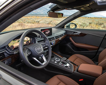 2018 Audi A4 allroad 2.0 TFSI Prestige quattro Wagon Steering Wheel Detail