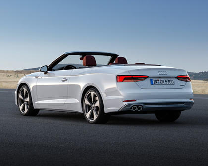 2018 Audi A5 Prestige quattro Convertible Exterior. European Model Shown.