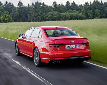 2018 Audi S4 Prestige quattro Sedan Exterior. European Model Shown.