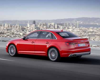 2018 Audi S4 Prestige quattro Sedan Exterior. European Model with Options Shown.