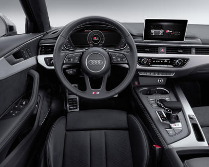 2018 Audi S4 Prestige quattro Sedan Steering Wheel Detail. European Model Shown.