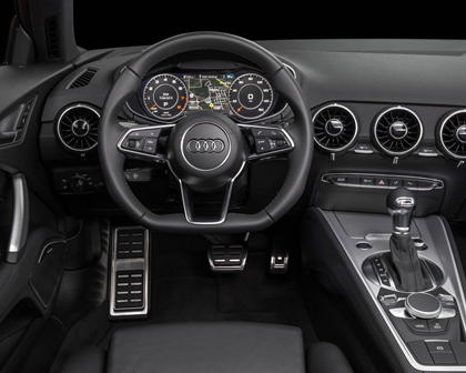 2017 Audi TT 2.0T quattro Coupe Steering Wheel Detail