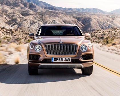 2017 Bentley Bentayga 4dr SUV Exterior. Options Shown.