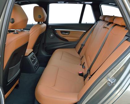 2017 BMW 3 Series 328d xDrive Wagon Rear Interior. European Model Shown.