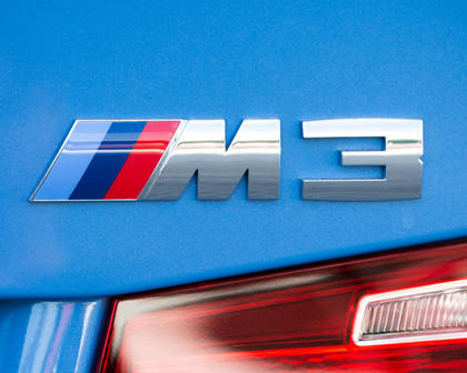 2017 BMW M3 SedanRear Badge