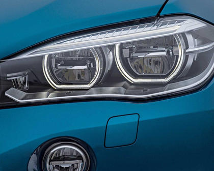 2017 BMW X6 M 4dr SUV Headlamp Detail