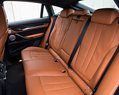 2017 BMW X6 M 4dr SUV Rear Interior
