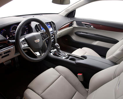 2017 Cadillac ATS Coupe Premium Performance Coupe Interior Shown