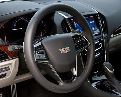 2017 Cadillac ATS Coupe Premium Performance Coupe Steering Wheel Detail