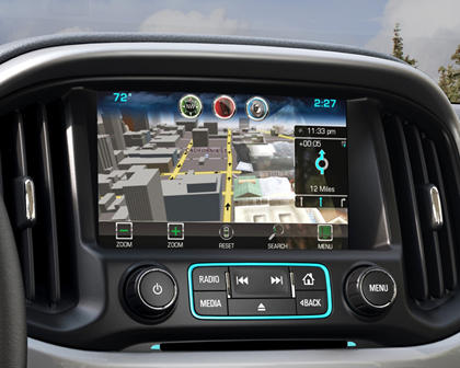 2017 Chevrolet Colorado Z71 Extended Cab Pickup Navigation System
