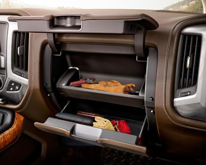 2017 Chevrolet Silverado 1500 High Country Crew Cab Pickup Storage Bin Detail