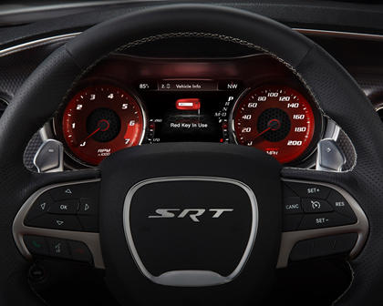 2017 Dodge Charger SRT Hellcat Sedan Steering Wheel Detail