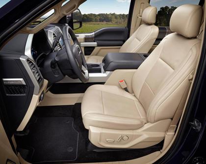 2017 Ford F-250 Super Duty Lariat Crew Cab Pickup Interior Shown